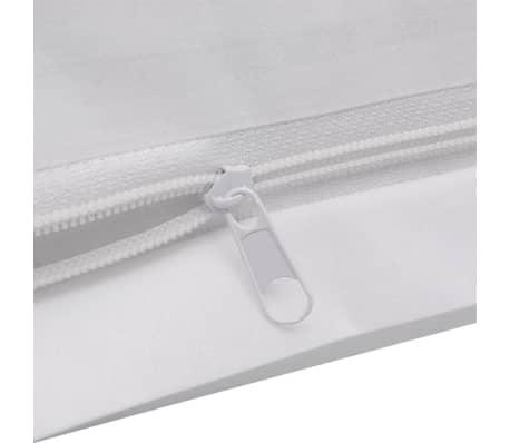vidaXL Conjunto capa edredão algodão 2 pcs 155x200/80x80 cm branco[3/4]