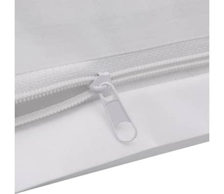 vidaXL Set husă pilotă din bumbac, 200 x 200/80 x 80 cm, alb, 3 piese[4/4]
