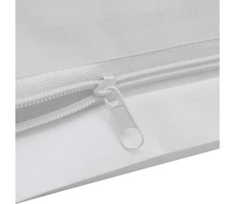 acheter vidaxl trois pi ces housse de couette en coton blanc 200x220 80x80 cm pas cher. Black Bedroom Furniture Sets. Home Design Ideas