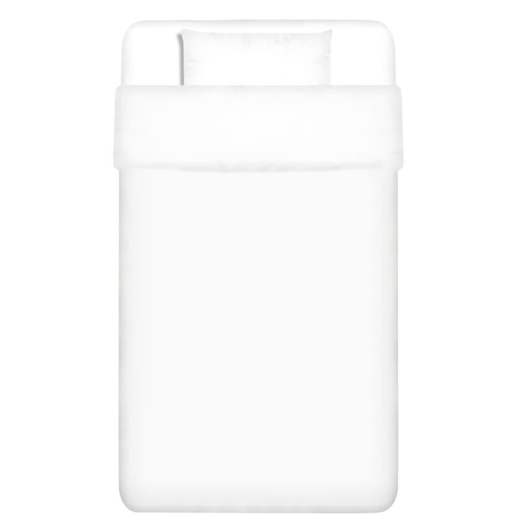 vidaXL Dvojdílná bavlněná sada povlečení bílá 135x200/60x70 cm