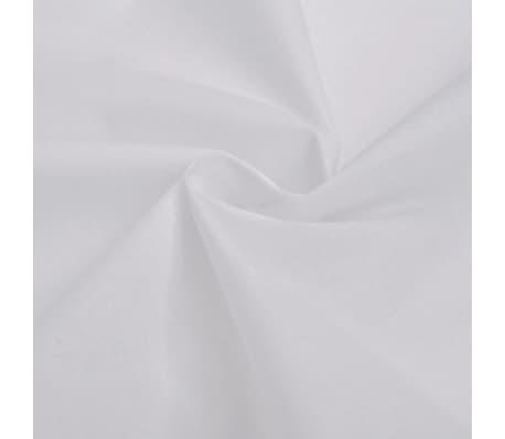 vidaXL Dekbedovertrekset 135x200/60x70 cm katoen wit[2/4]