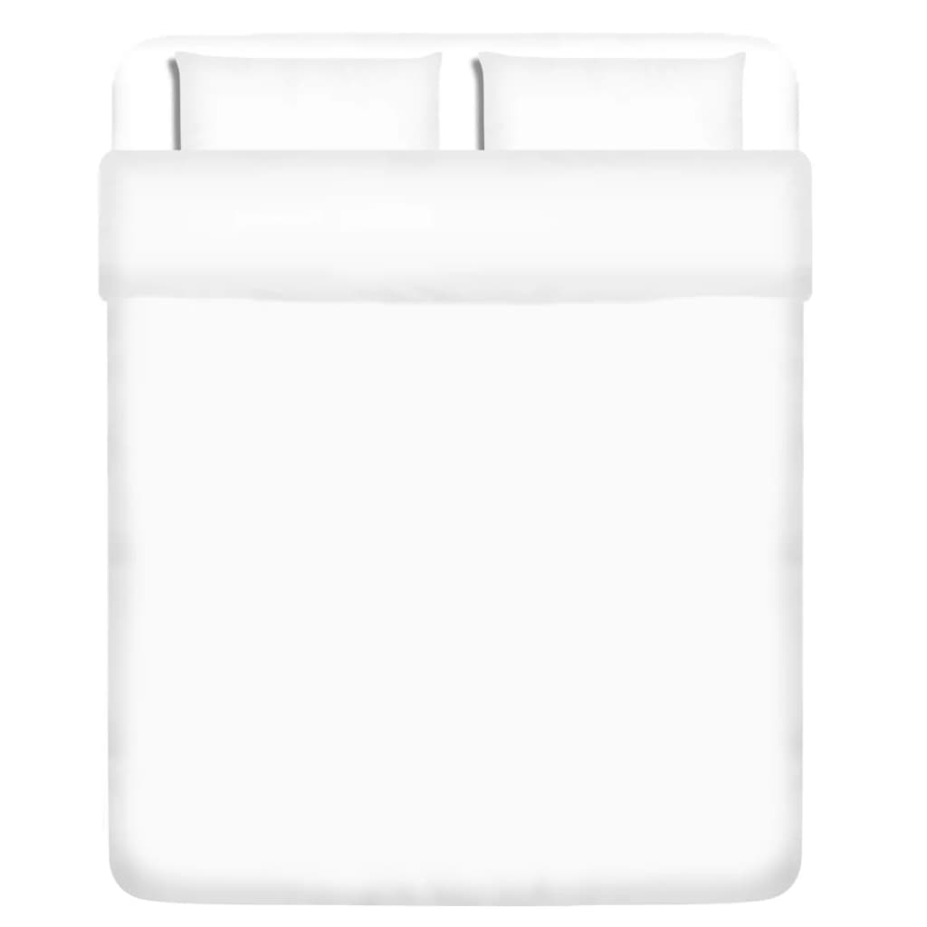 vidaXL Třídílná bavlněná sada povlečení bílá 200x200/60x70 cm
