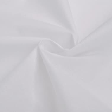 vidaXL Set huse pilotă bumbac, 200 x 200/60 x 70 cm, alb, 3 piese[2/4]