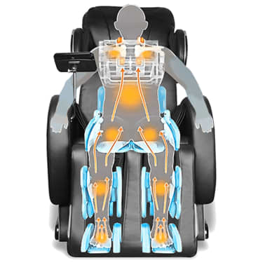 Black Electric Artificial Leather Massage Chair with Super Screen[9/9]