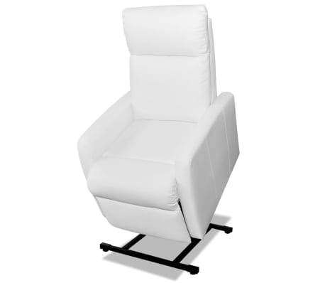 2-Position Electric TV Recliner Lift Chair White Artificial Leather[1/9]