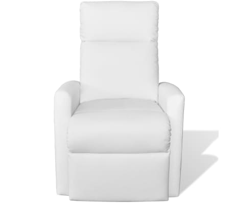 2-Position Electric TV Recliner Lift Chair White Artificial Leather[3/9]