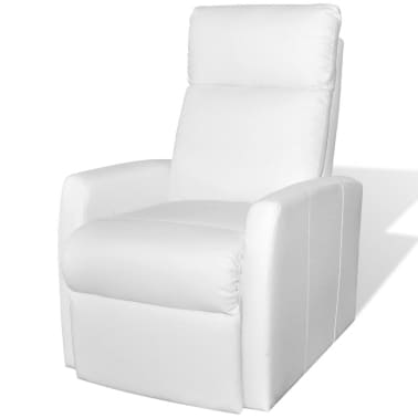 2-Position Electric TV Recliner Lift Chair White Artificial Leather[2/9]
