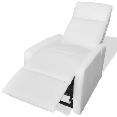 2-Position Electric TV Recliner Lift Chair White Artificial Leather[5/9]