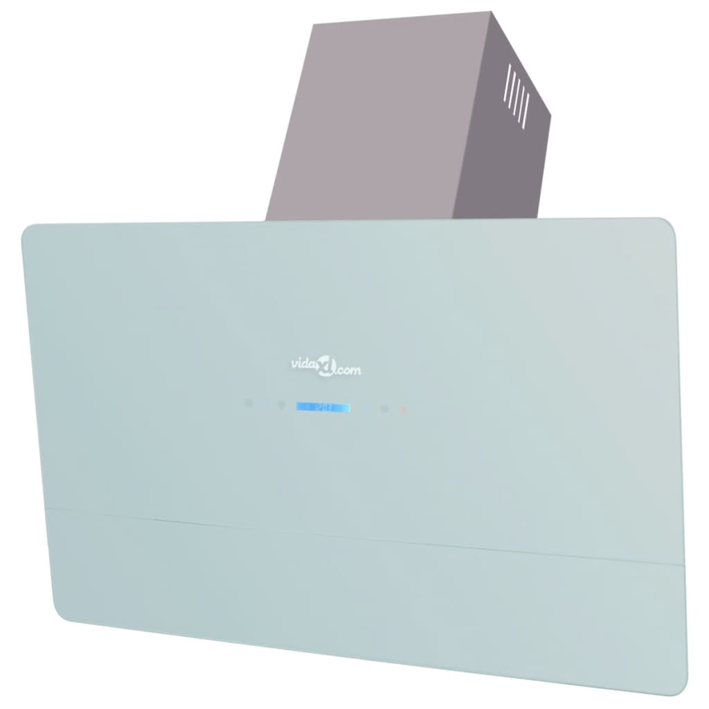 vidaXL Afzuigkap met touch scherm wit 900 mm