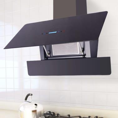 vidaXL Afzuigkap met touch scherm zwart 900 mm[1/10]