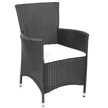 vidaxl garten essgruppe 25 tlg poly rattan schwarz. Black Bedroom Furniture Sets. Home Design Ideas