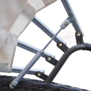 vidaXL Lauko gultas su pagalvėlėmis, poliratanas, rudas[4/5]