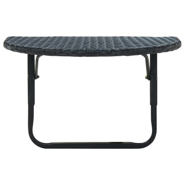 vidaXL Balcony Table Poly Rattan Black[2/3]