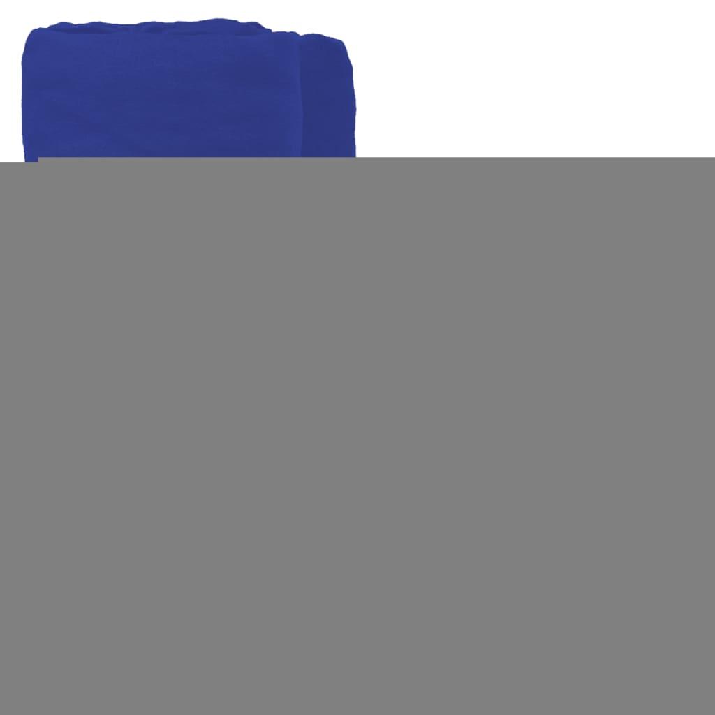 vidaXL Napínací prostěradlo 2 ks bavlna 160 gsm 90x190–100x200cm modré