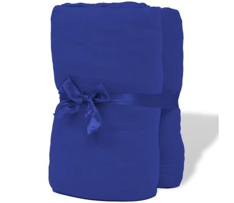 acheter vidaxl drap housse 2 pi ces en coton 160 gsm 180x200 200x220 cm bleu pas cher. Black Bedroom Furniture Sets. Home Design Ideas
