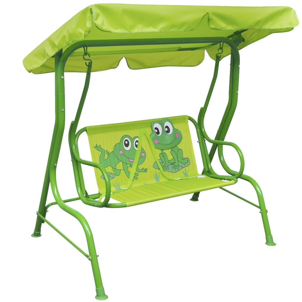 vidaXL Dětská zahradní houpačka zelená