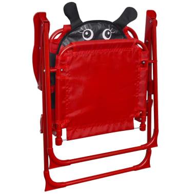 vidaXL Cafébord för barn med parasoll 3 delar röd[5/6]