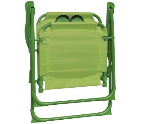 vidaXL Cafébord för barn med parasoll 3 delar grön[5/6]