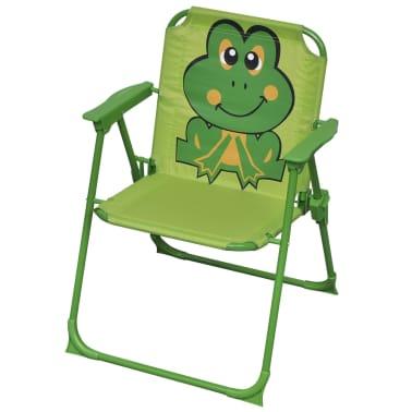 vidaXL Cafébord för barn med parasoll 3 delar grön[4/6]