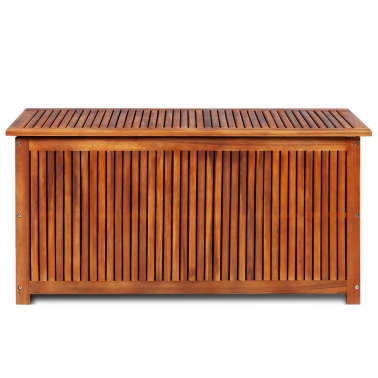 vidaXL Deck Storage Box Acacia Wood[3/4]