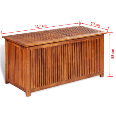 vidaXL Deck Storage Box Acacia Wood[4/4]