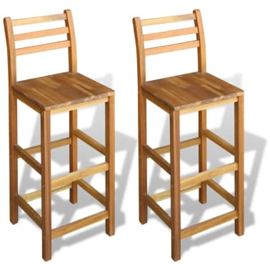 vidaXL Bar Stools 2 pcs Acacia Wood[1/5]