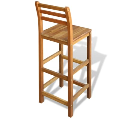 vidaXL Bar Stools 2 pcs Acacia Wood[4/5]