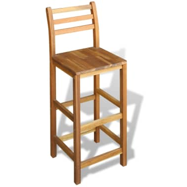 vidaXL Bar Stools 2 pcs Acacia Wood[2/5]
