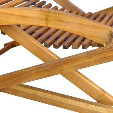 vidaXL Däckstol med fotstöd massivt akaciaträ[6/8]