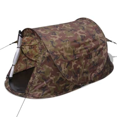 vidaXL Pop-up tent 2-persoons camouflage[2/9]