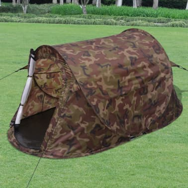 vidaXL Pop-up tent 2-persoons camouflage[1/9]