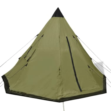 vidaXL Tienda de campaña para 4 personas verde[2/7]