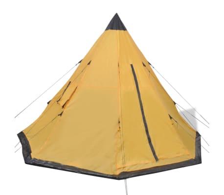 vidaXL Tienda de campaña para 4 personas amarilla[2/7]