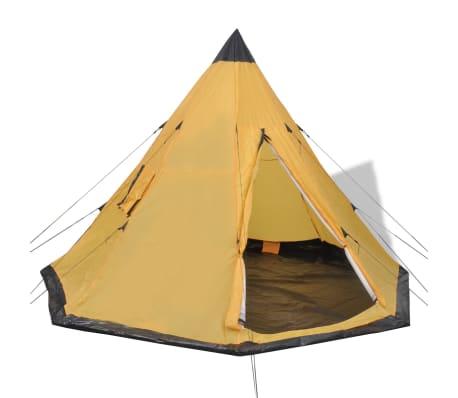 acheter vidaxl tente pour 4 personnes jaune pas cher. Black Bedroom Furniture Sets. Home Design Ideas