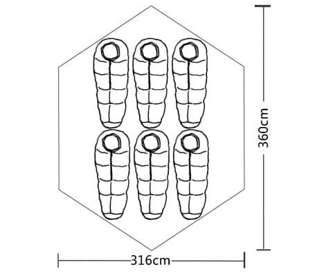 vidaXL 6-person Tent Green[7/7]