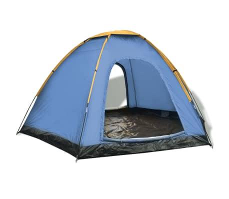 vidaXL Tent voor 6 personen blauw en geel-picture