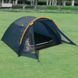 vidaXL telts 3 personām, zila