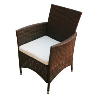 vidaxl garten essgruppe 17 tlg braun poly rattan g nstig. Black Bedroom Furniture Sets. Home Design Ideas