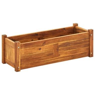 vidaXL Donica ogrodowa, drewno akacjowe, 76x27,6x25 cm[1/6]