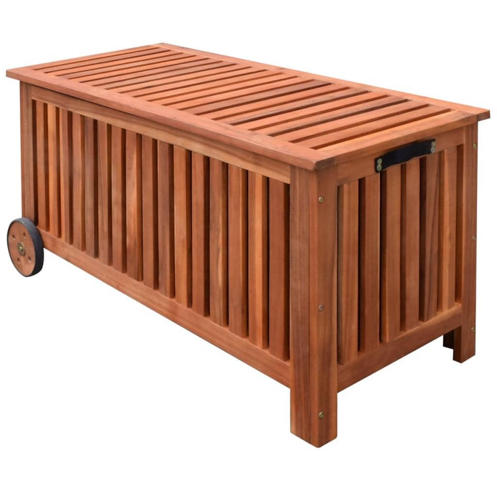 vidaXL Zahradní truhla / box na polstry, dřevěná 118x52x58 cm