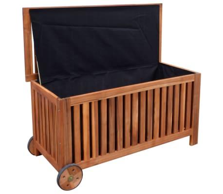vidaXL Caja de almacenaje de jardín de madera 118x52x58 cm[2/6]
