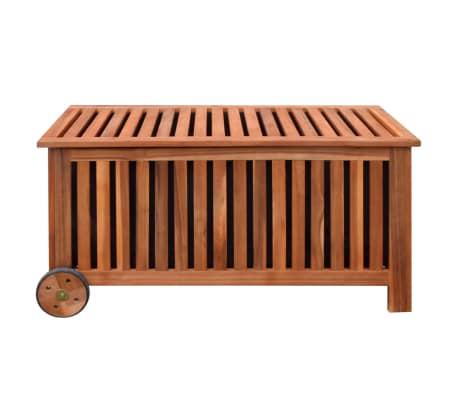 vidaXL Caja de almacenaje de jardín de madera 118x52x58 cm[3/6]