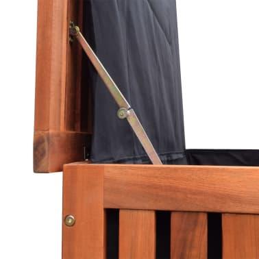 vidaXL Caja de almacenaje de jardín de madera 118x52x58 cm[4/6]