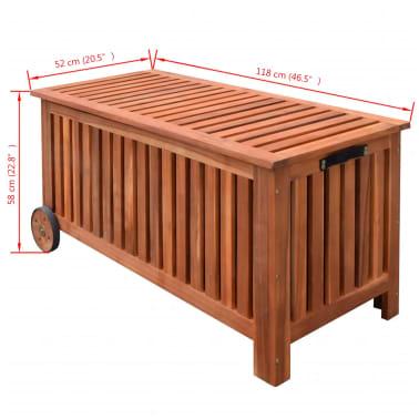 vidaXL Záhradný úložný box 118x52x58 cm drevený[6/6]