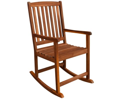 vidaXL Garden Rocking Chair Acacia Wood[3/6]