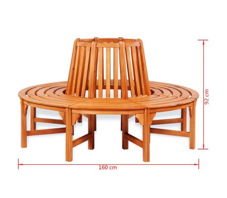 "vidaXL Tree Bench Ø 63"" Wood[3/3]"