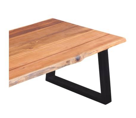"""vidaXL Coffee Table Solid Acacia Wood 43.3""""x23.6""""x15.7""""[6/7]"""