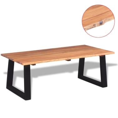 """vidaXL Coffee Table Solid Acacia Wood 43.3""""x23.6""""x15.7""""[2/7]"""