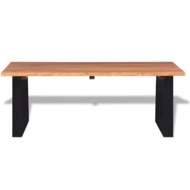 """vidaXL Coffee Table Solid Acacia Wood 43.3""""x23.6""""x15.7""""[3/7]"""