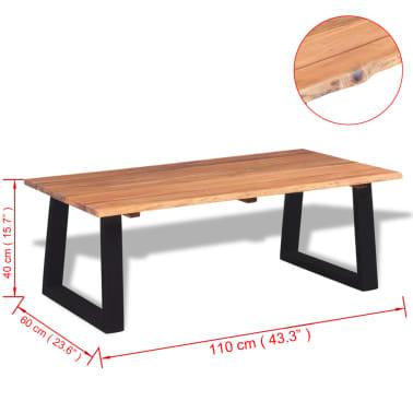 """vidaXL Coffee Table Solid Acacia Wood 43.3""""x23.6""""x15.7""""[7/7]"""